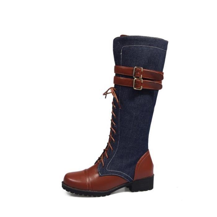Femme Chaussures Cowboy Bottes hautes Bottes de chevalier