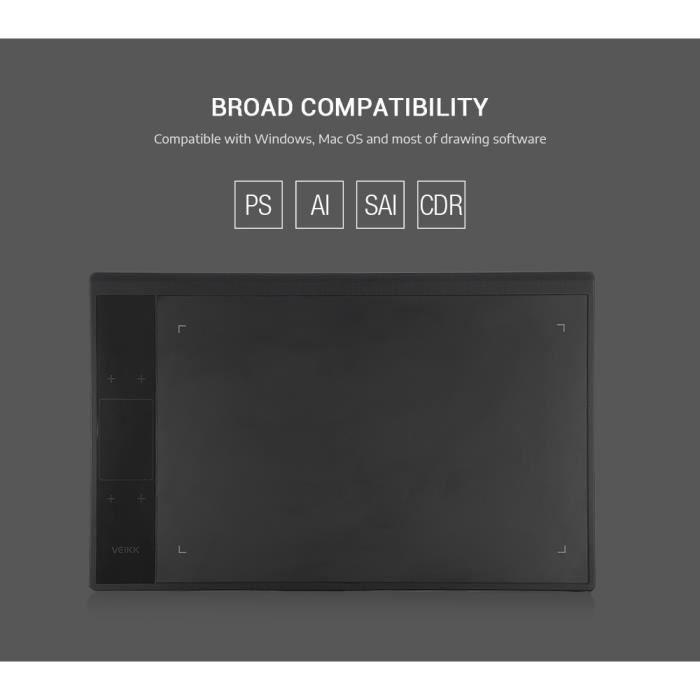 TABLETTE GRAPHIQUE Tablette à dessin VEIKK A30 Tablette Graphique 819