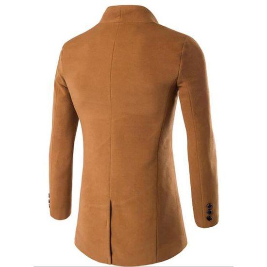 De Drap En Manteau À Unie Homme Vêtement Automne Ville Couleur Veste w1ROHY1x
