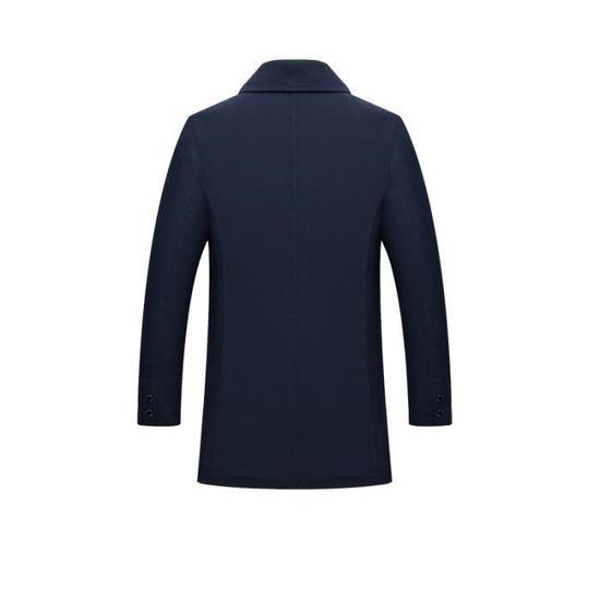 Manteau Homme De A La Masculin D'automne Mode Revers Vêtement Longue wwgrqS