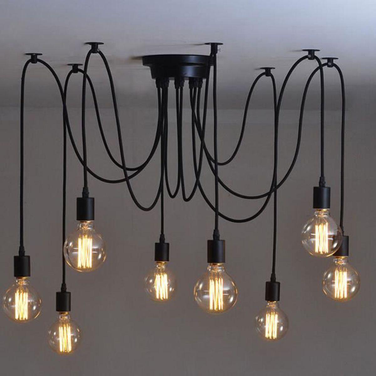 Lustre 8 Vintage E27 Ampoule Style Maison Plafonnier Têtes Pour Décoration Loft De Industriel Pendentif Porte Salle Café b6vY7fgy