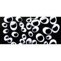 OUTIL SCRAPBOOKING Yeux adhésifs ovales Noirs Ø10 à 15 mm 100 pièces