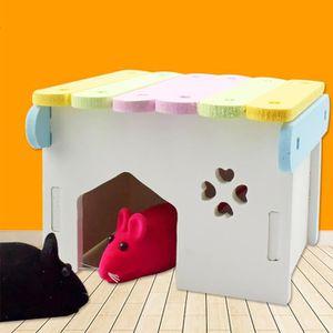 KIT VÊTEMENT ouniondo® Rongeur Hamster Cages Portable Bois Hams