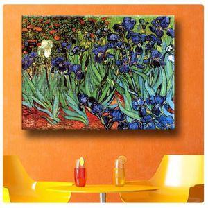 TABLEAU - TOILE Irises Vincent Van Gogh IMPRIMER Sur CANVAS (100%