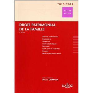 MANUEL UNIVERISTAIRE Livre - droit patrimonial de la famille (édition 2