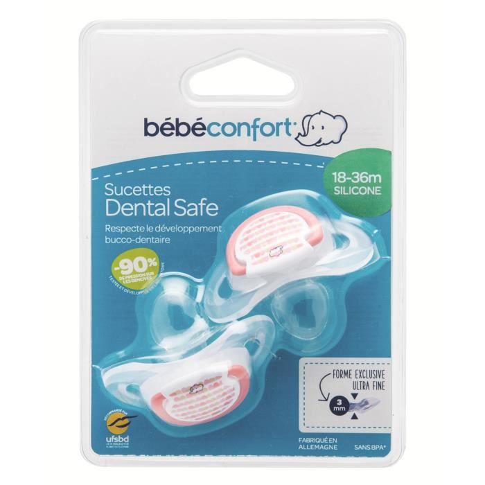 BEBE CONFORT Sucette Dental Safe 18/36m (x2) - Little Valleys Rouge