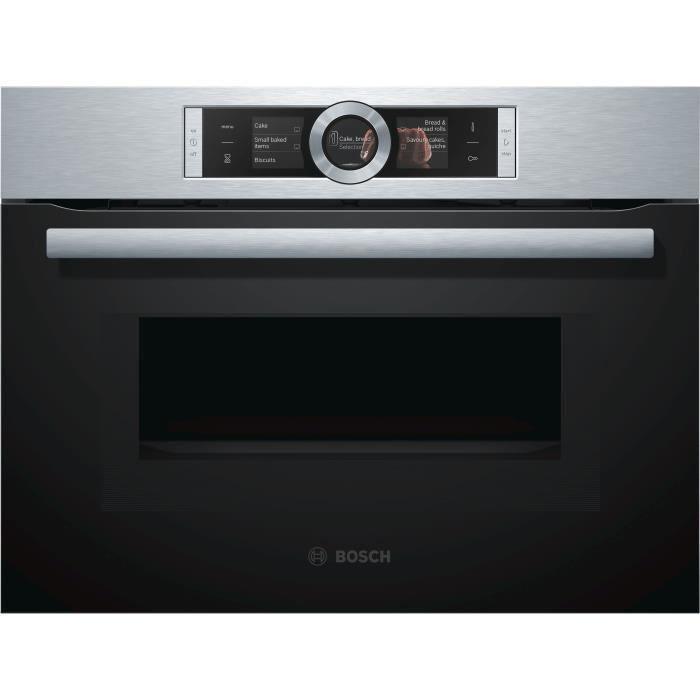 BOSCH CMG636BS1 - Four compact avec fonction micro ondes - 45 L - Eco clean - 12 modes de cuisson - L 59,4 x P 54,8 cm - Inox