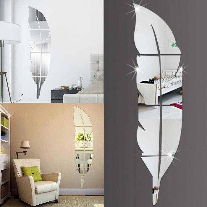 Miroir a coller aux murs achat vente miroir a coller for Cdiscount decoration