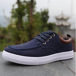 mode casual chaussures pour hommes occasionnels-bleu foncé 2ecT4Ki2