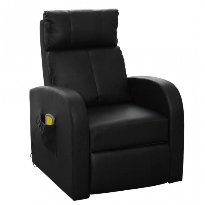 massant 1702004 de Fauteuil massage chauffage noir confort relaxant massage détente RL543Aj