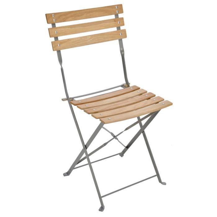 Fauteuil et chaise metal et bois achat vente fauteuil et chaise metal et bois pas cher for Chaise de jardin bois