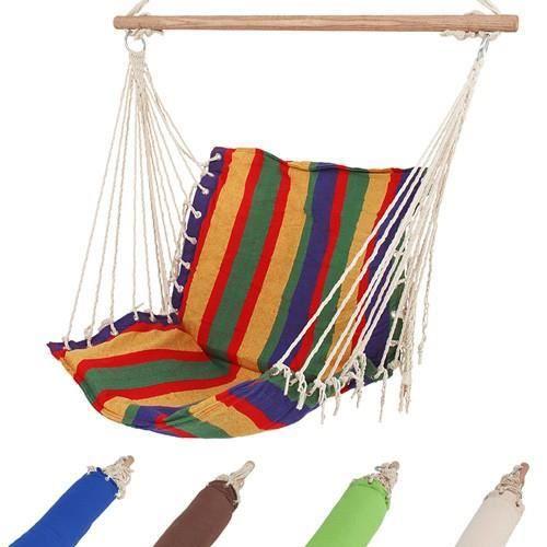 Chaise hamac suspendu 130 x 60 cm - charge max.: 110 kg