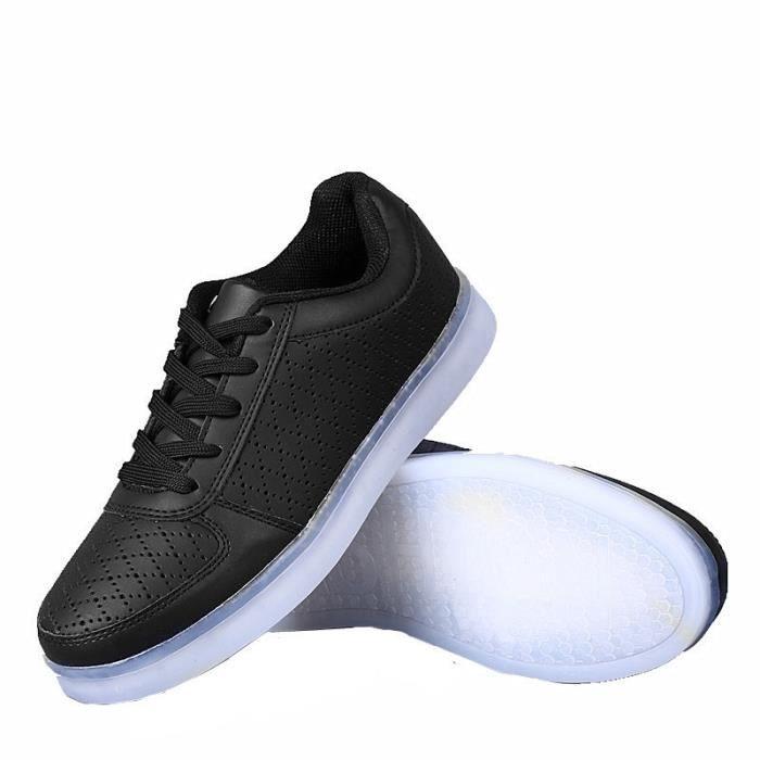 Amoureux de la mode chaussures7Multicolore USB Rechargeables LED Lumière Lumineux Clignotants Chaussures de Sports Baskets pour KrX9TBBy