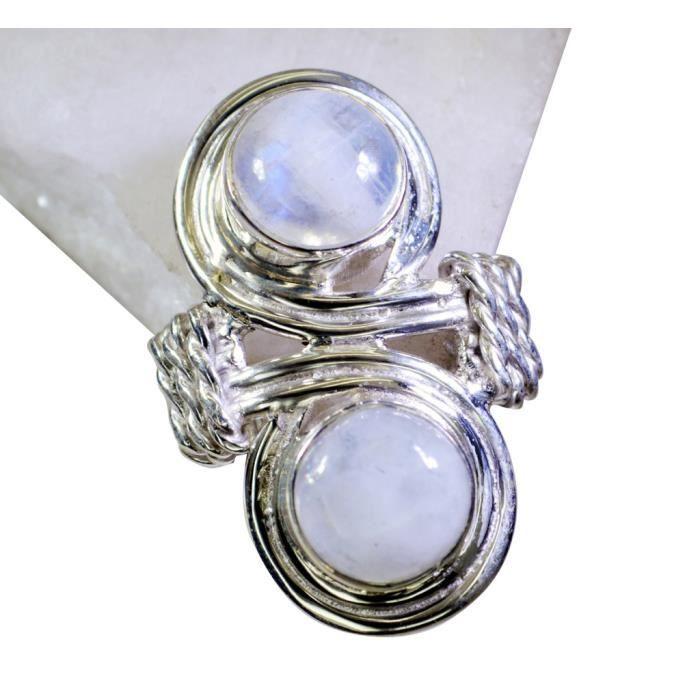 arc moonstone ring - anneau blanc - bague en argent - Bague en argent blanc