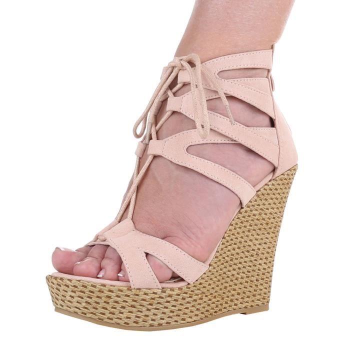 Chaussures femmes sandales Talon haut cale cale Escarpins LHKSAs10