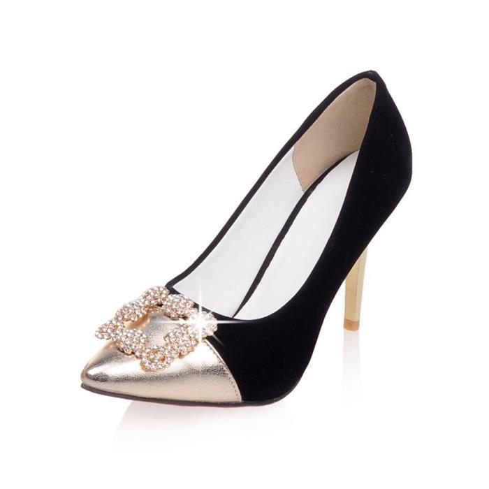 Chaussure Femmes Nouveau Mode Avec Spirale éléganteSolide Club Mariage Soiree JQ0743X
