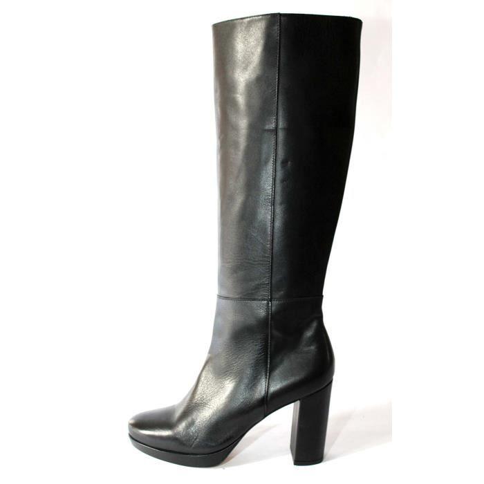 feb2276cdd9e Botte en cuir noir femme - Achat   Vente pas cher