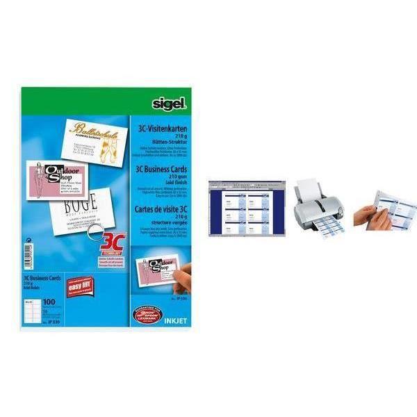 CARTE DE VISITE Cartes De Visite 3C 85 X 55 Mm Structure En Lin