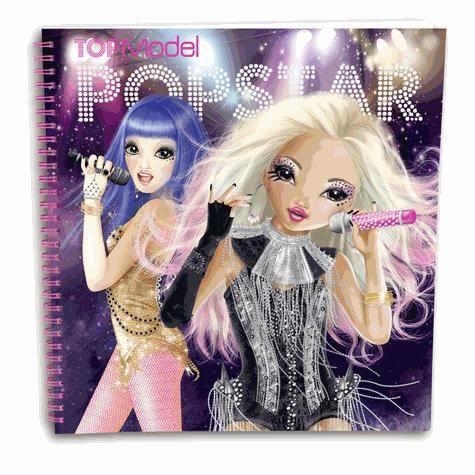 Top Model - ALBUM DE COLORIAGE STYLISTE POPSTAR - Achat / Vente livre de coloriage - Cdiscount
