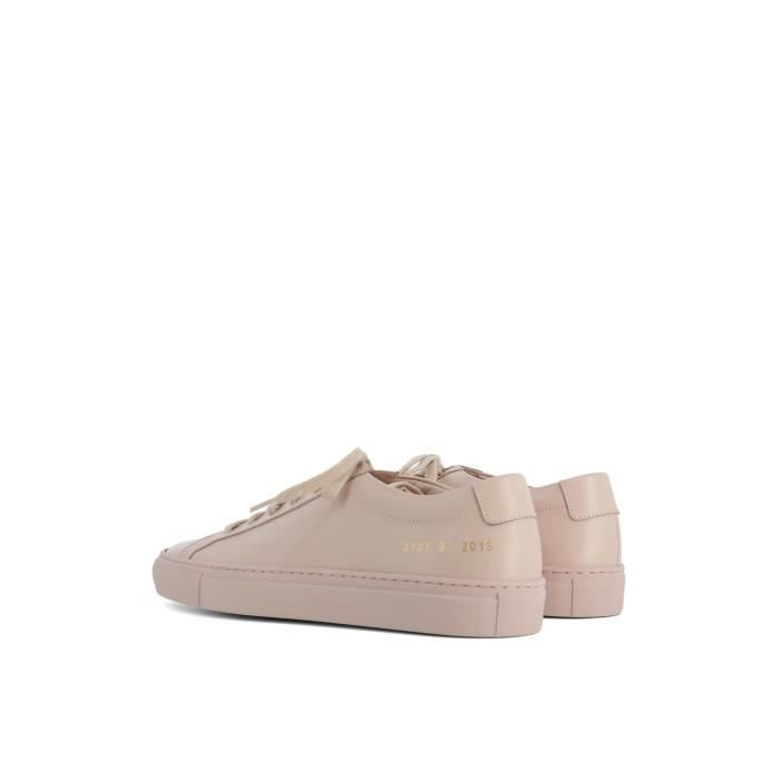 COMMON PROJECTS FEMME 37012015 ROSE CUIR BASKETS Z8DXhJ
