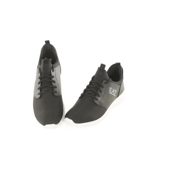 cc1f07b97fc6 Sneaker chausson bi matière 248000 -EMPORIO ARMANI Homme Noir Noir Noir -  Achat   Vente basket - Soldes  dès le 9 janvier ! Cdiscount