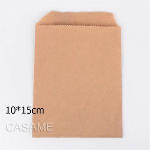 POCHETTE CADEAU Version Marron blank 10x15cm - 50 Pcs-Lot Traiter