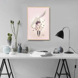 CARRELAGE - PLAQUETTE DE PAREMENT - BRIQUE DE VERRE - DECOR - PLINTHE  CARRELAGE Nordic Aquarelle Lapin Peinture décorative Chambre
