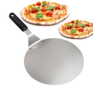 PALETTE - CORNE  Pelle à Pizza Ronde en Inox avec Manche en Anti-dé