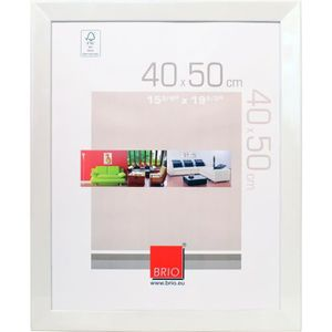 CADRE PHOTO Brio cadre photo Elite Blanc 40X50 Cm