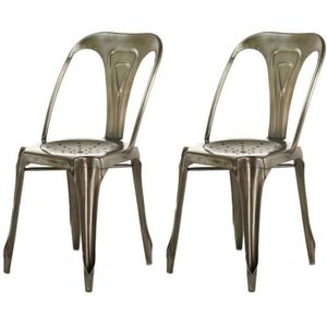 Lot chaise industrielle achat vente lot chaise for Chaise zons
