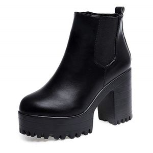 25b267dad5e22 BOTTE Femmes Cheville Bottines Chaussures Compensé Botte