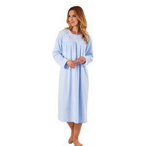 146e3db715cee PYJAMA Slenderella Chemise De Nuit Couleur Unie - Bleu Cl