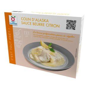 POISSON CUISINÉ Colin d'Alaska surgelé sauce beurre citron - 2 x 2