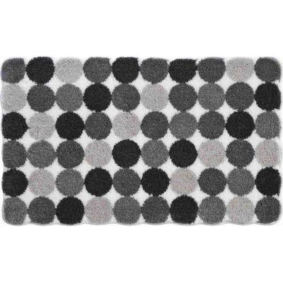 Tapis de salle de bain design 50 x 60 cm design gris noir blanc ...