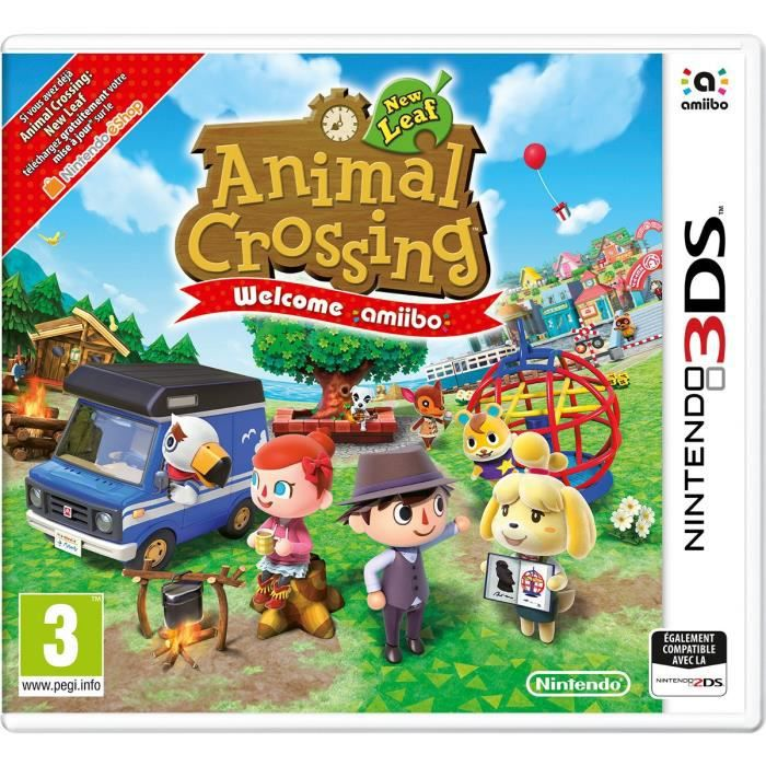 Jeu 3ds Animal Crossing New Leaf Welcome
