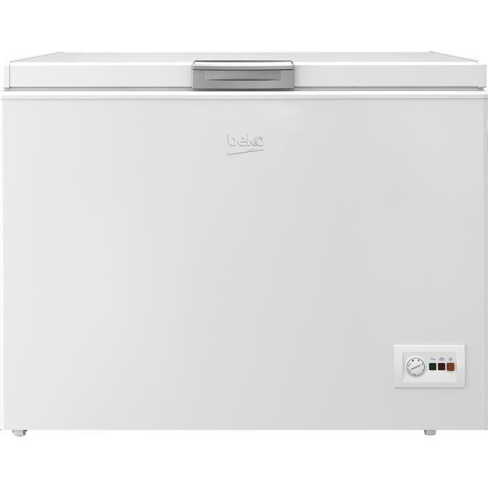 BEKO HSA32530N - Congélateur coffre - 298L - Froid statique - A+ - L 110,5cm x H 86cm - Blanc
