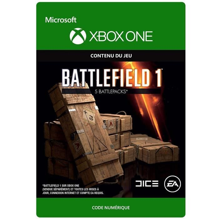 DLC Battlefield 1: 5 Battlepacks pour Xbox One