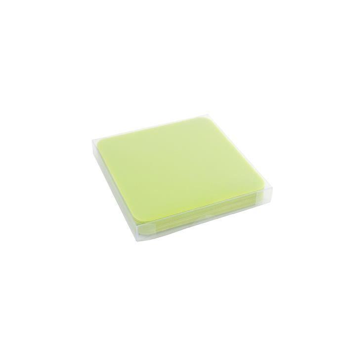 YONG Set de 12 Sous-verres plastique - 9x9cm - Vert
