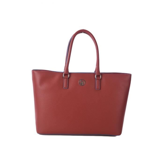 ARMANI - Sac A Main Rouge - Femme Rouge - Achat   Vente sac à main ... 571e0dbde83