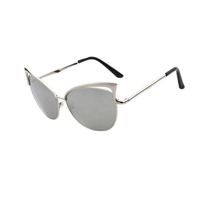 Hommes Femmes Lunettes lentilles claires métal lunettes de soleil Lunettes Cadre Myopie argent-LJL70330131SL_1234