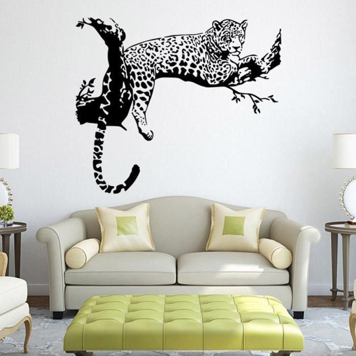 Leopard Stickers Muraux Salon Chambre Décoration Amovible Poster