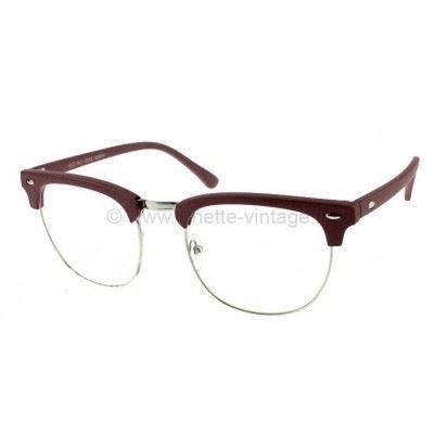 Lunettes style Clubmaster Marron Marron - Achat   Vente lunettes de ... 903510fd318e