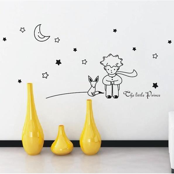 le petit prince et le renard peint stickers mur achat vente objet d coration murale. Black Bedroom Furniture Sets. Home Design Ideas