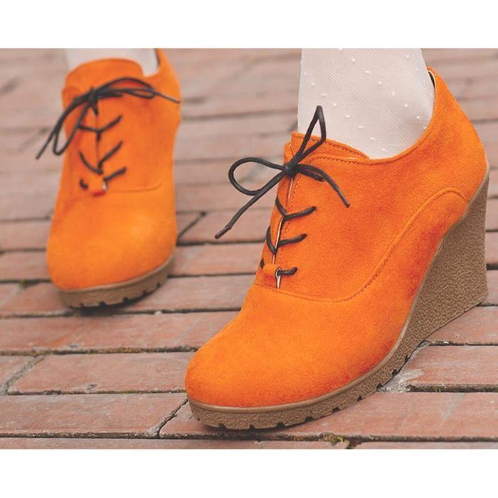 Printemps New Style bout rond Sabots femme Orange
