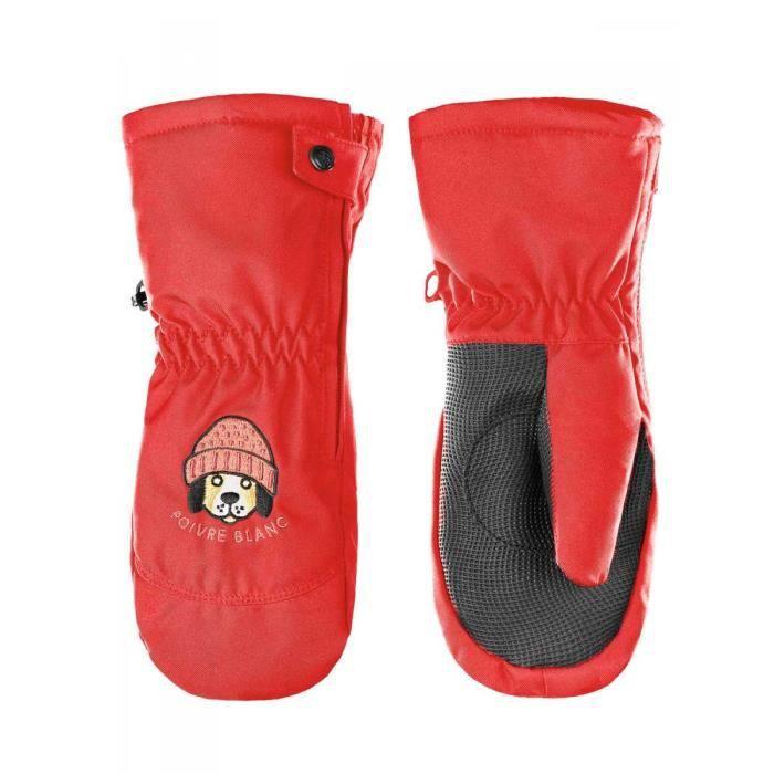 362e63d0e58a POIVRE BLANC - Moufles de ski imperméable rouge du. Où trouver l offre Moufle  garcon 4 ans ...