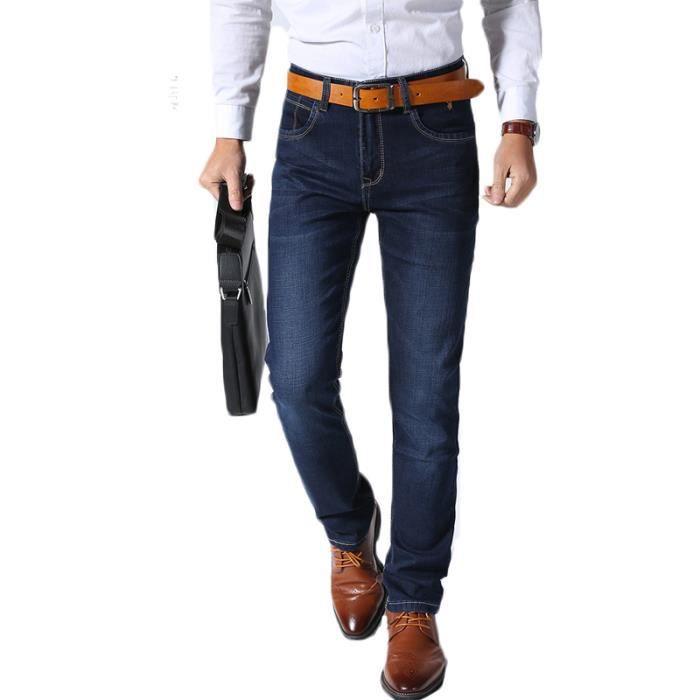 Jeans En A Habille La Droit Mode Pantalon Homme Mince Denim 6ECrwx6q0