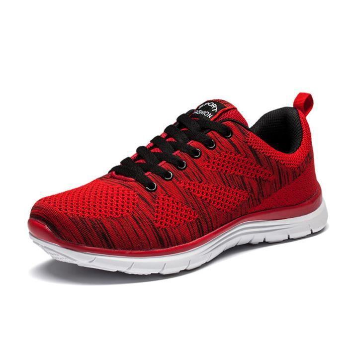 Chaussure Pour Marque Hommes résistantes Confortable De Chaussures Luxe Basket Plus de l'usure rouge Taille Homme à 44 39 course 39 PwwqpR