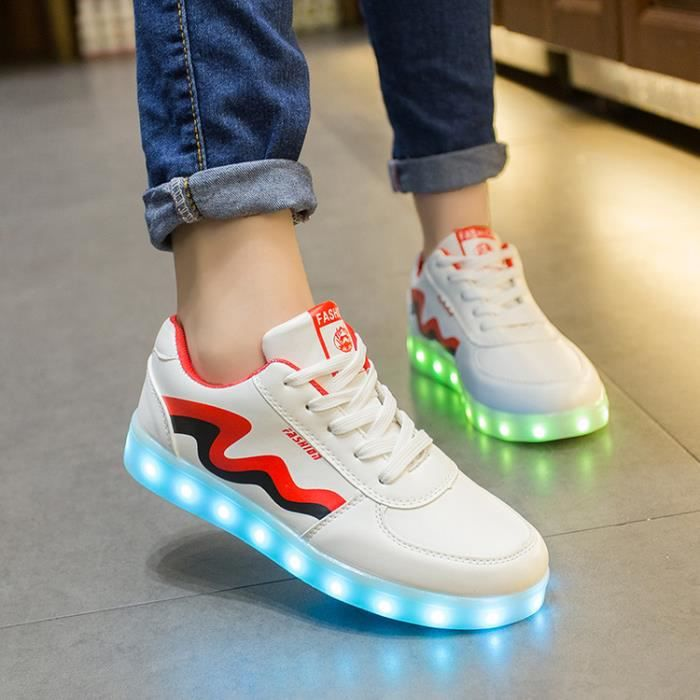 Homme Chaussures Femme Chaussures Mode LED Chaussures lumineuses clignotantes Charge USB YKI9F0t