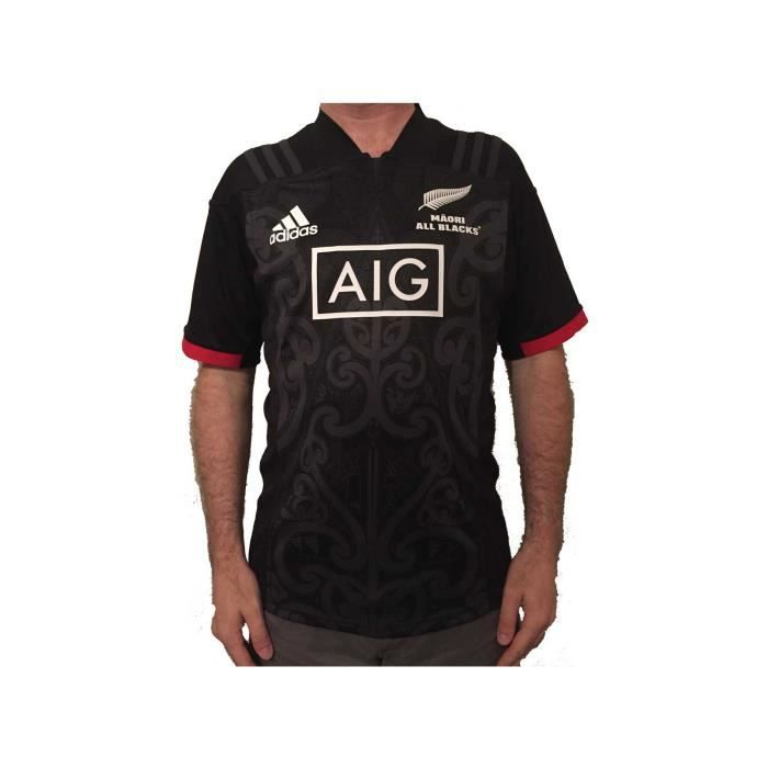 super popular ab7bc f8c2b MAILLOT DE RUGBY Maillot rugby Maori All Blacks replica 2018 2019 a