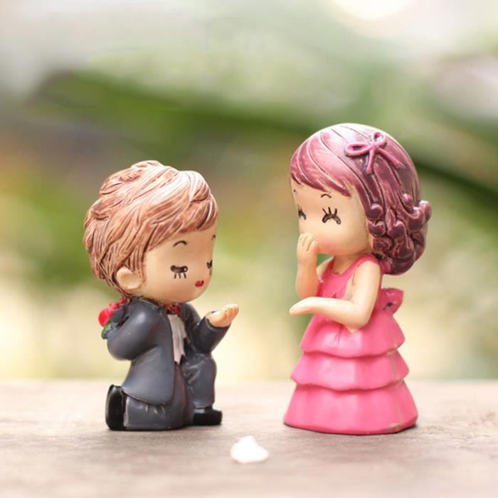 Ornement de décoration de couple Proposition de mariage